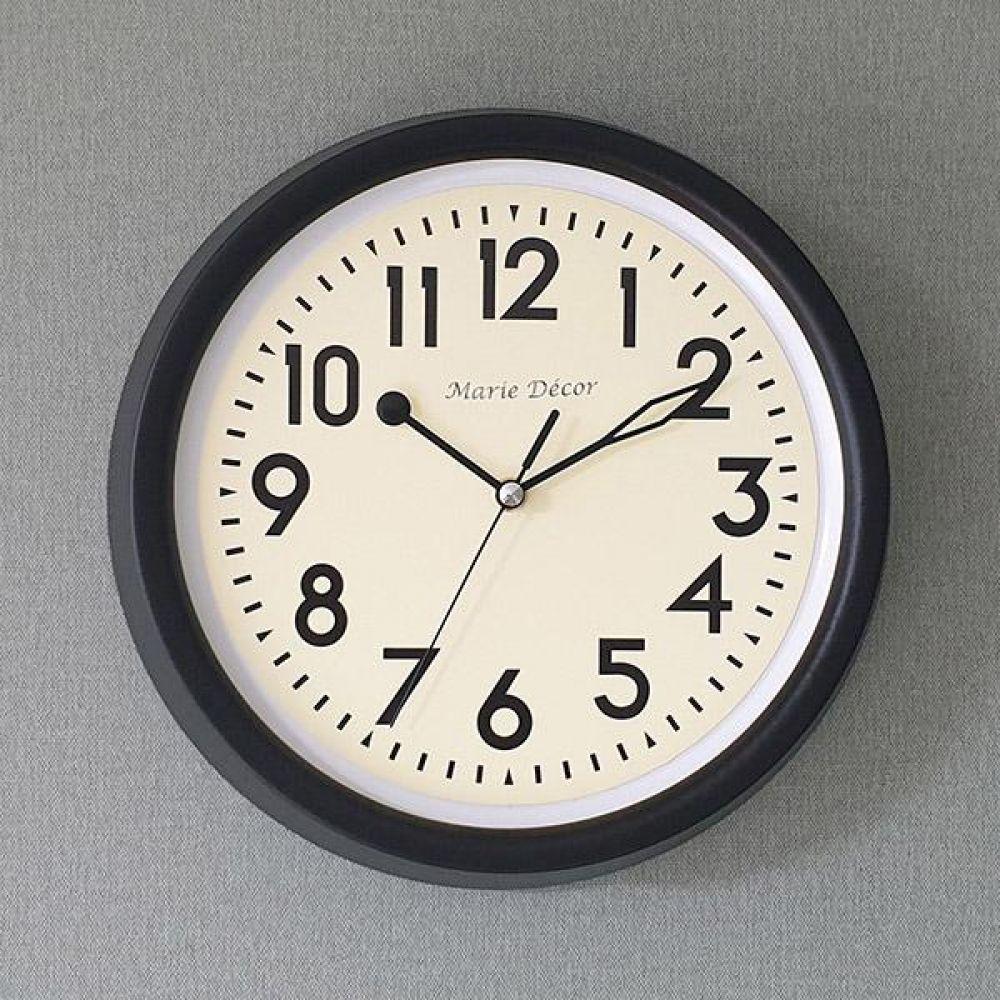 뉴트로 무소음 벽시계 (블랙) 벽시계 벽걸이시계 인테리어벽시계 예쁜벽시계 인테리어소품