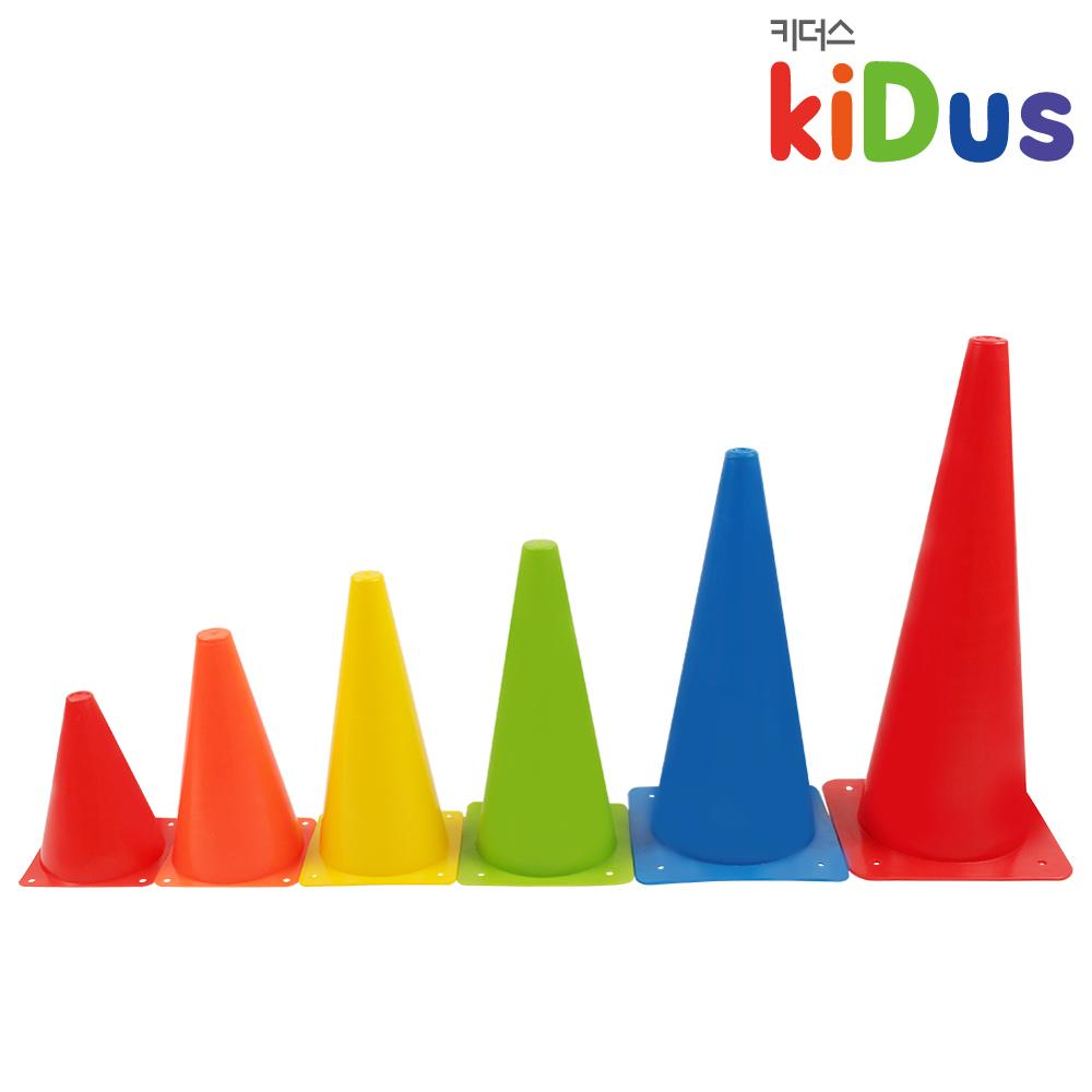 키더스 칼라콘(28cm/32cm) 유아체육 학교 유치원 어린이집 축구 접시콘 허들콘 라바콘 꼬깔콘 안전용품 훈련 트레이닝