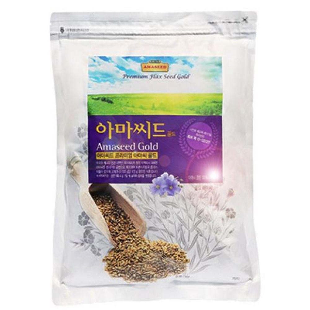 아마씨드 아마씨 골드 500g 오메가3 리그난 식이섬유 비타민 미네랄 풍부 로스팅  제거 건강 보조 오일 씨 식품