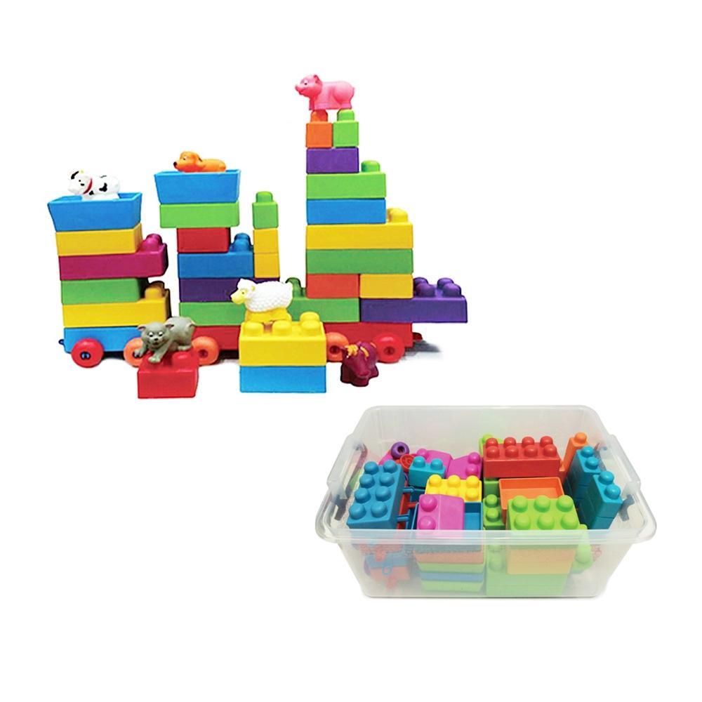 선물 유아 장난감 로얄 빅소프트 블럭 70p 크리스마스 퍼즐 블록 블럭 장난감 유아블럭