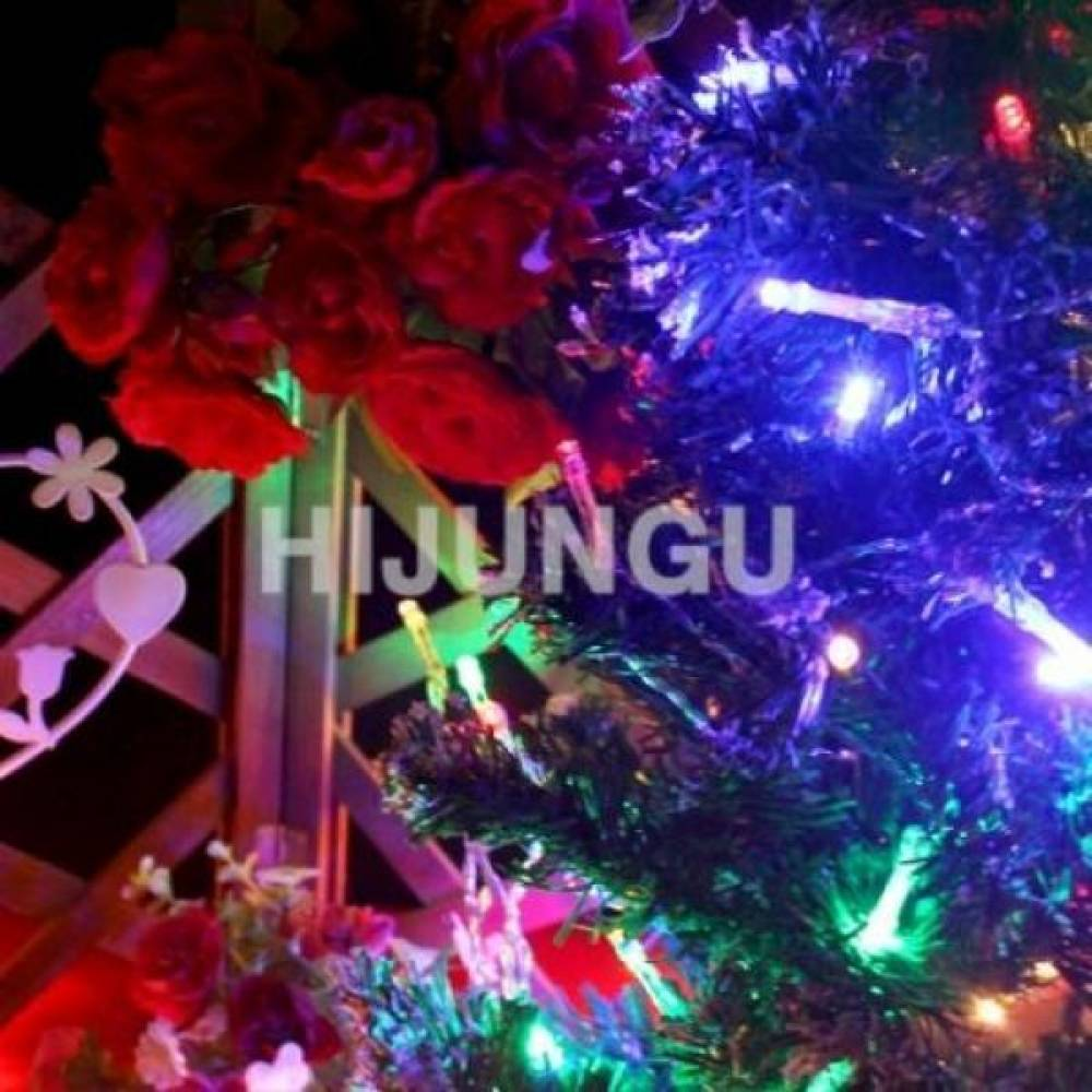 건전지용 LED 100구 9m 은하수 투명줄 컬러 은하수 줄조명 크리스마스조명 장식조명 조명장식 앵두전구 diy 스노우펄 스노우폴