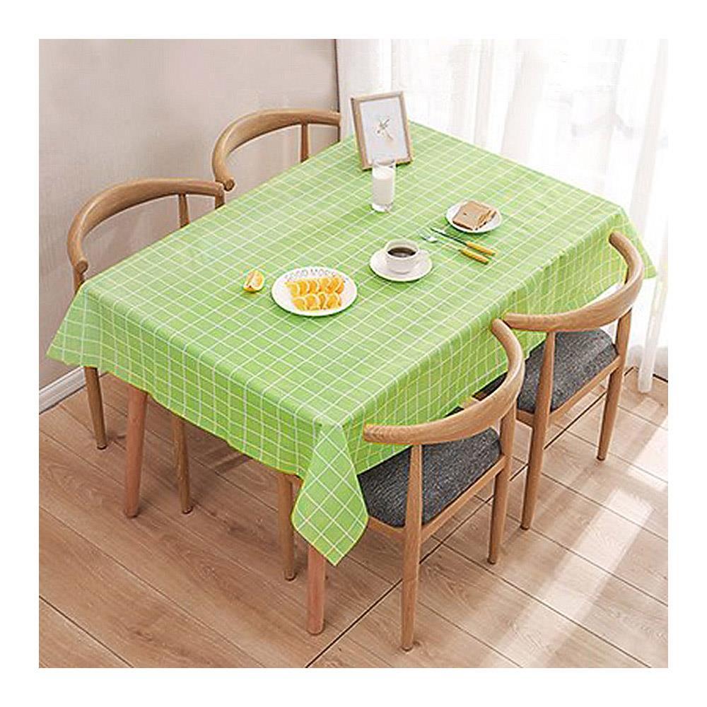 90x137cm 그린 식탁보 격자무늬 테이블커버 식탁깔개 식탁테이블보 테이블러너 식탁매트 식탁보 식탁커버