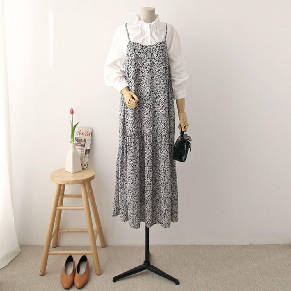 쉬폰 플레어 원피스 1048324 DRESS 쉬폰 레이스원피스 블랙 Black 오렌지 Orange 옐로우 Yellow 캐주얼