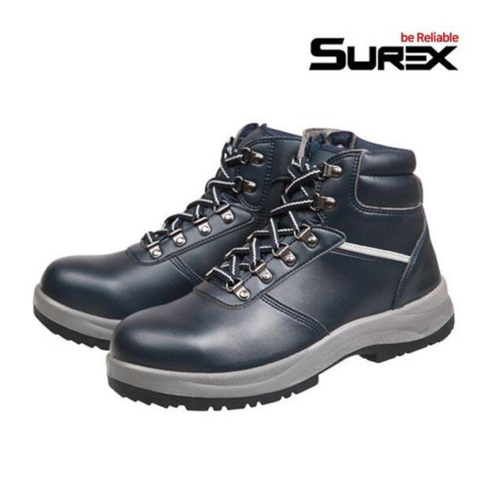 슈렉스 SR-617 6in 보통작업용 중단화 안전화 작업화 안전화 SUREX 슈렉스 가죽안전화 지퍼타입 작업화 현장화