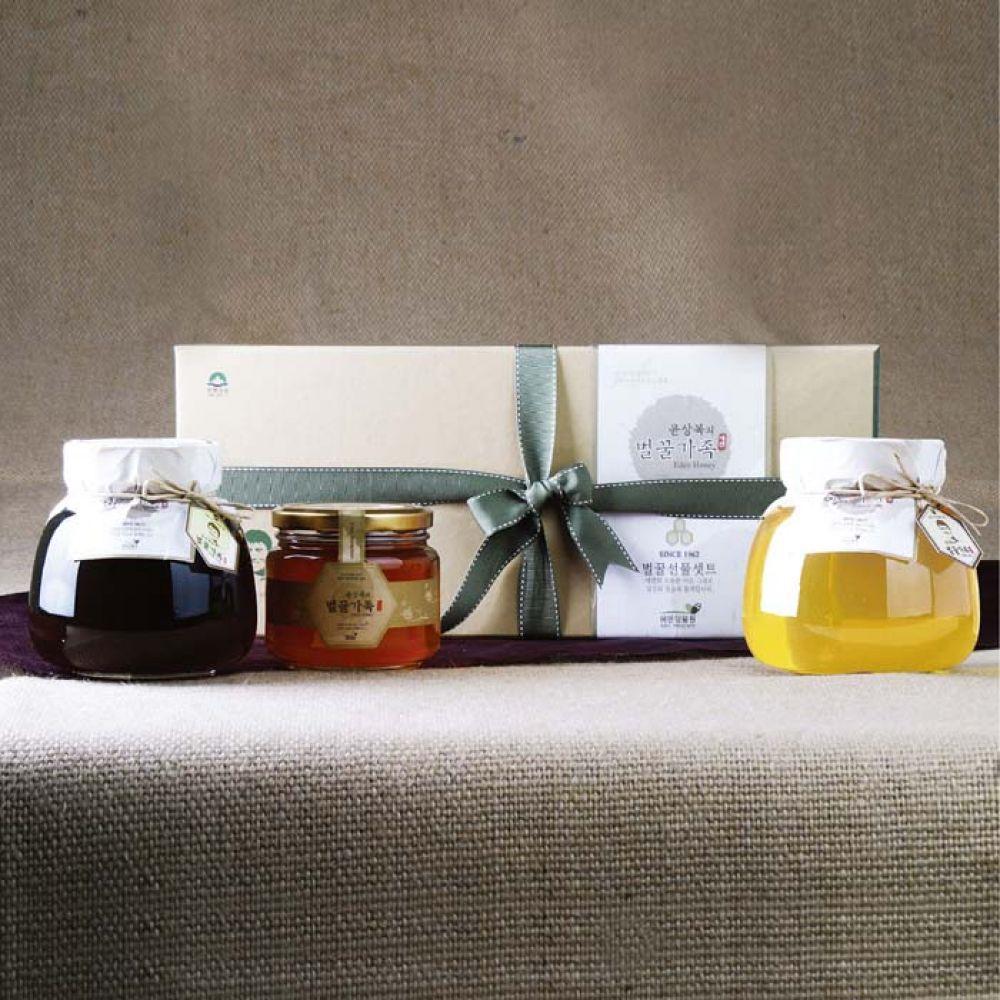 에덴양봉원_윤상복의 벌꿀가족 3호 2.5kg 꿀 벌꿀 벌꿀세트 꿀세트 천연벌꿀 명절선물 선물세트 명절선물세트 설선물