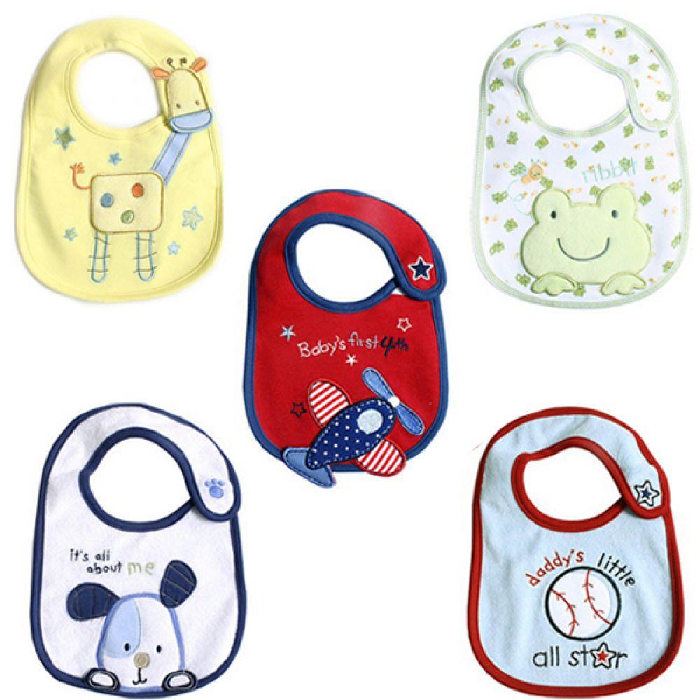 for BABY 아기를 위한 예쁜 턱받이 5종 300174 턱받이 아기턱받이 면턱받이 유아턱받이 이유식턱받이 영유아턱받이 엠케이 조이멀티