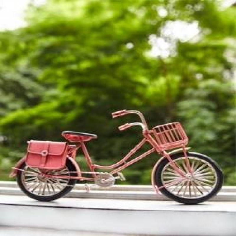 철제 자전거 미니어쳐 (레드.핑크)