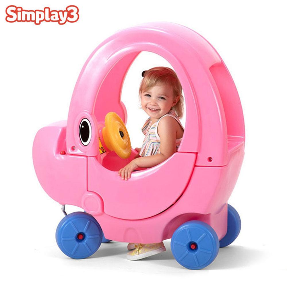 코끼리 지붕차 핑크 60401 붕붕카 아기 유아 승용완구 아기 유아완구 승용완구 붕붕카 유아