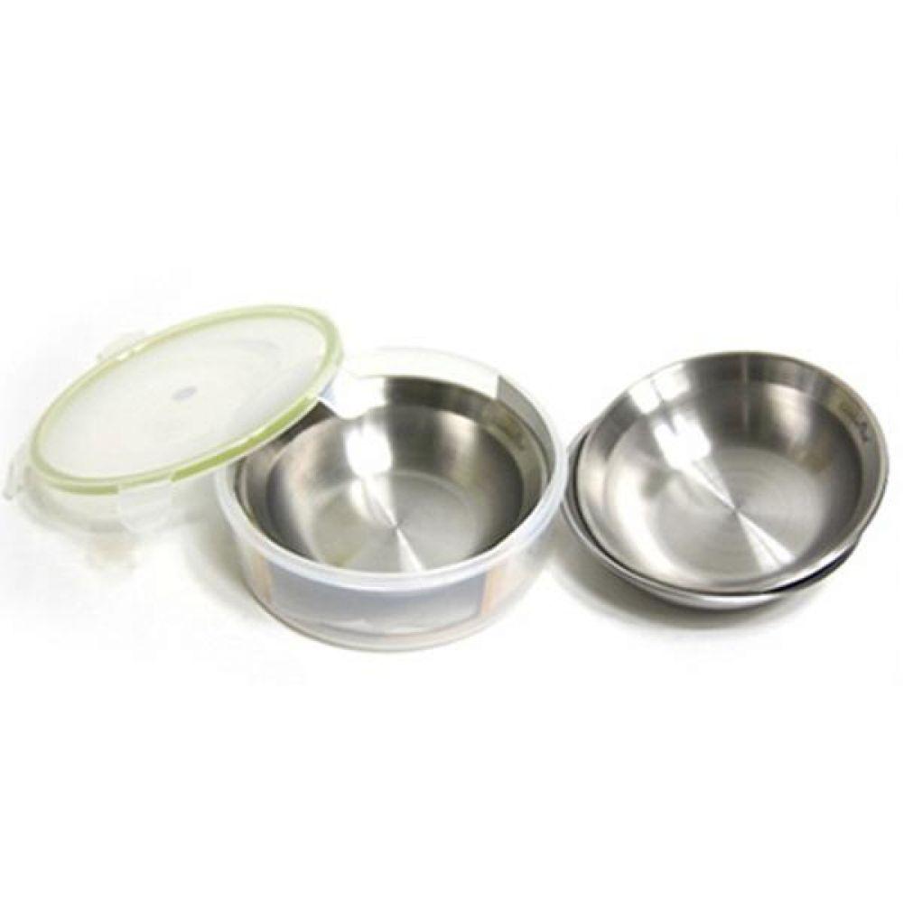스텐레스 캠핑대접 3종세트 식기세트 그릇세트 그릇 접시세트 국그릇