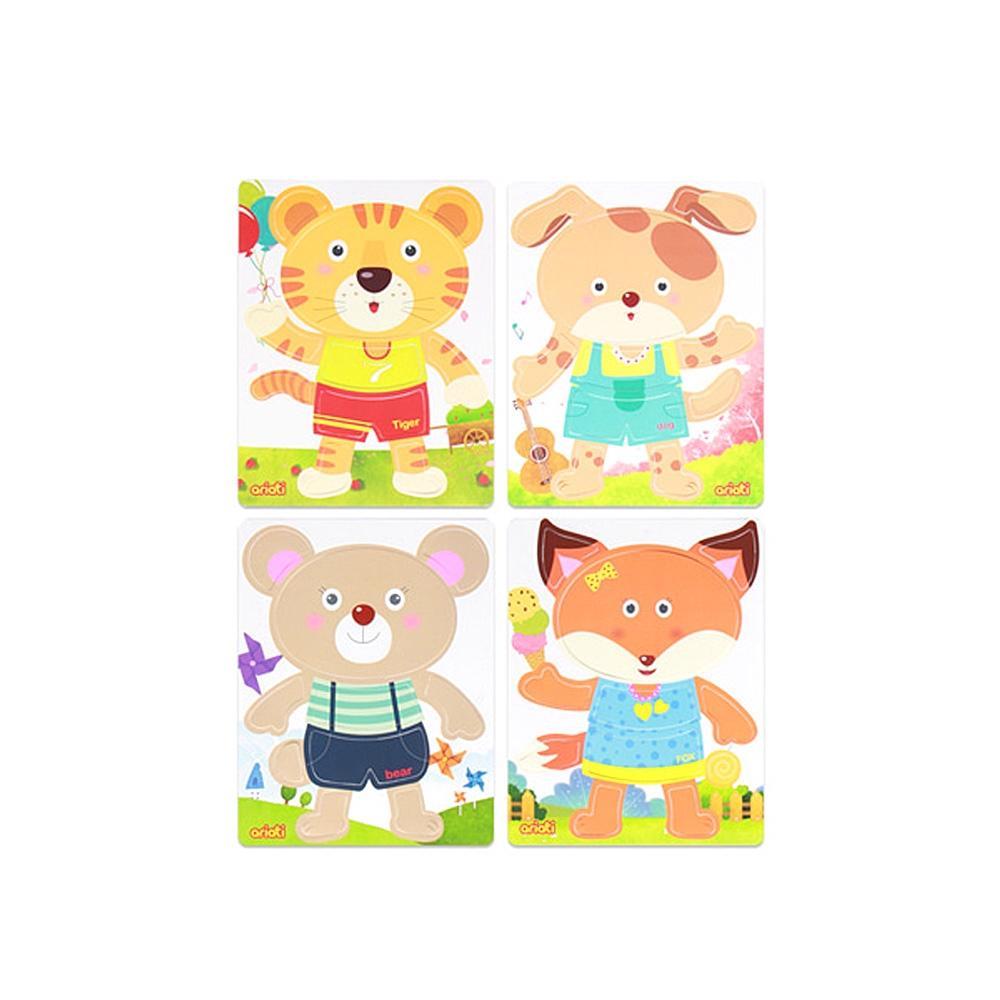 어린이집 유아 어린이 놀이 교구 맘대로 퍼즐 4종세트 완구 어린이집 유아원 초등학교 장난감