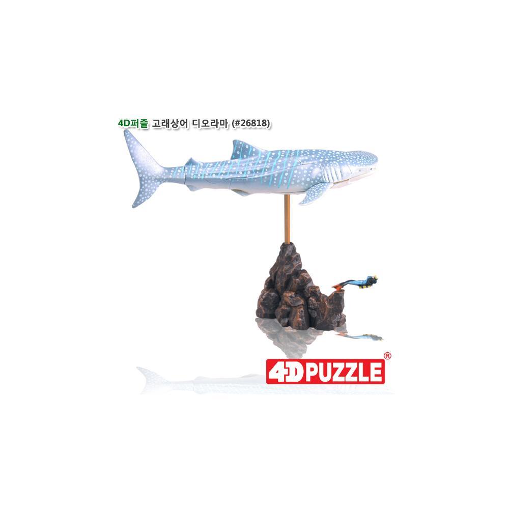 디오라마 입체 조립 동물 피규어 4D 퍼즐 고래상어 입체조립 조립피규어 입체조립피규어 4D퍼즐 3D퍼즐