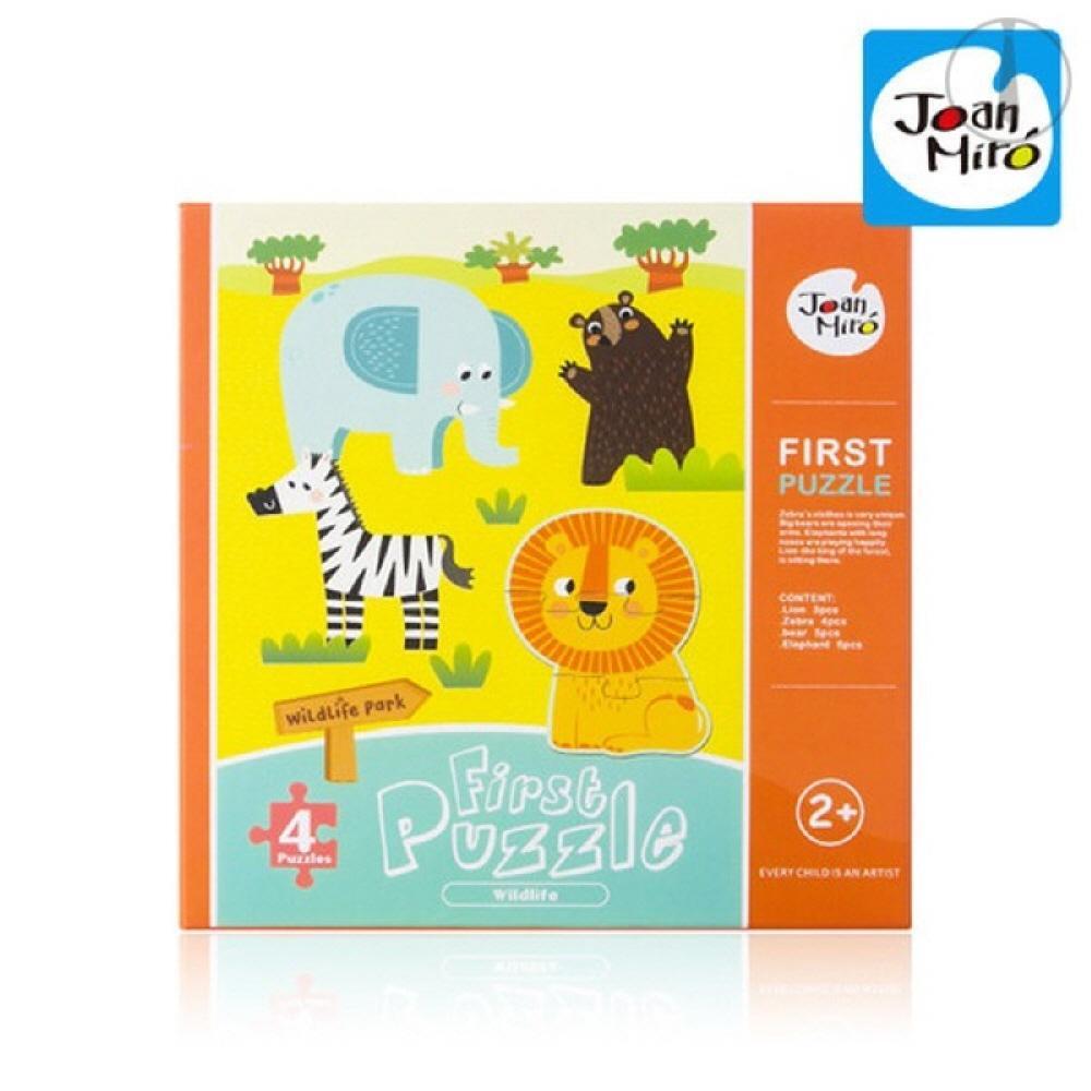 장난감 아이 창의 놀이 교구 동물 4등분 첫퍼즐 유아 퍼즐 블록 블럭 장난감 유아블럭