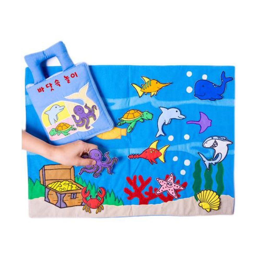매직교구 헝겊책 바닷속 놀이 완구 문구 장난감 어린이 캐릭터 학습 교구 교보재 인형 선물
