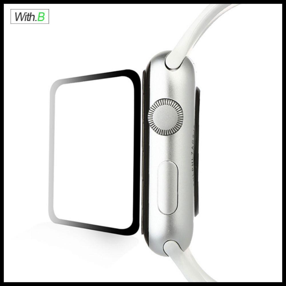 위드비 애플워치5 풀점착풀커버 강화유리필름 40 44mm 휴대폰케이스 강화유리필름 강화유리 액정보호필름 방탄필름