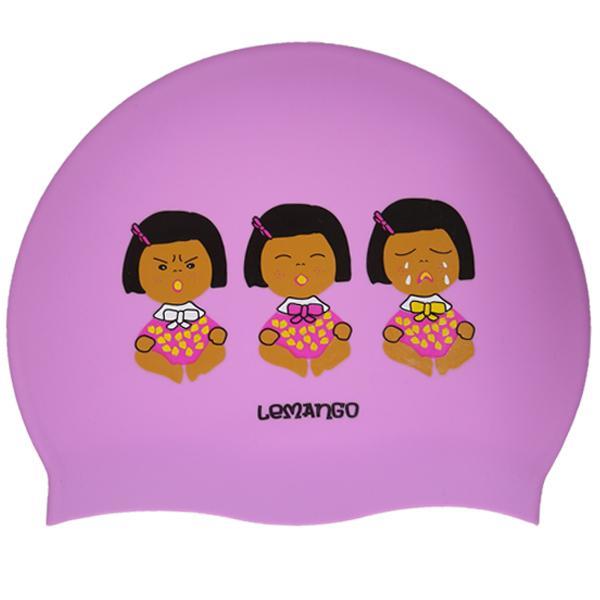 Monnani-Violet르망고 실리콘수모 수영모자 수영용품 수영모 수중운동용품 디자인수영모