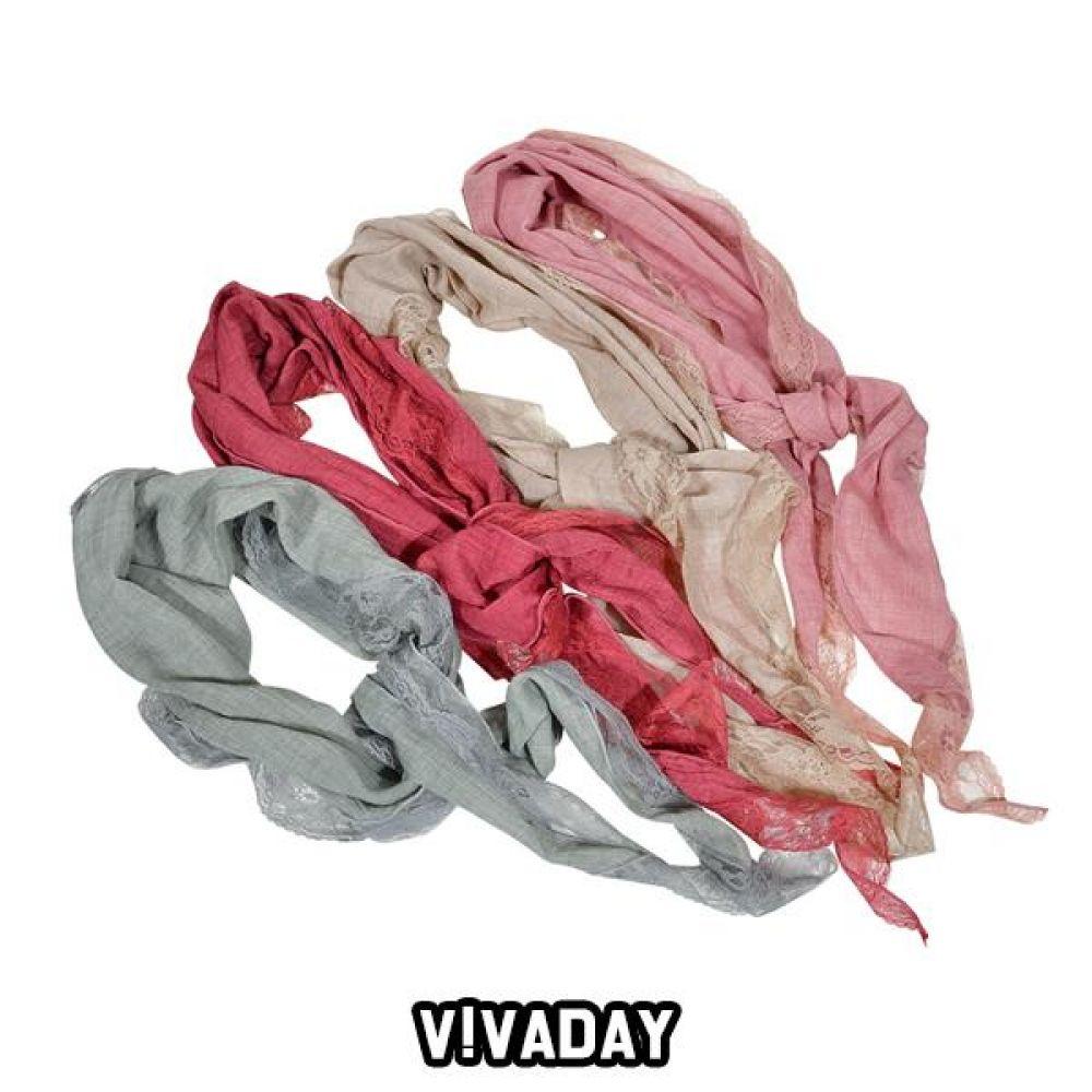 VIVADAY-SC72 샤랄라 레이스 스카프 스카프 여성스카프 쁘띠스카프 마스크 쿨토시 토시 패션잡화 롱스카프