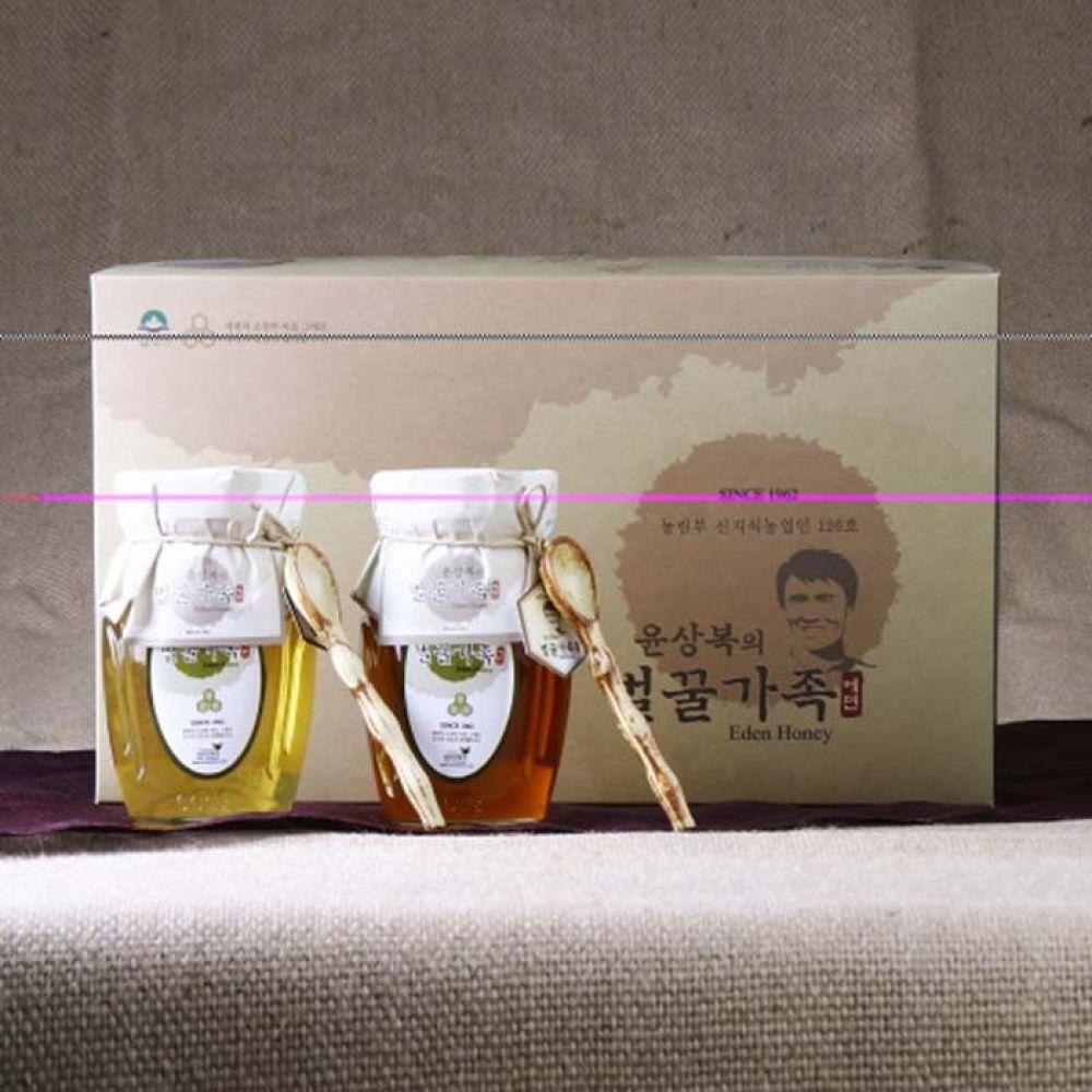 에덴양봉원_윤상복의 벌꿀가족 4호 1.2kg 꿀 벌꿀 벌꿀세트 꿀세트 천연벌꿀 명절선물 선물세트 명절선물세트 설선물