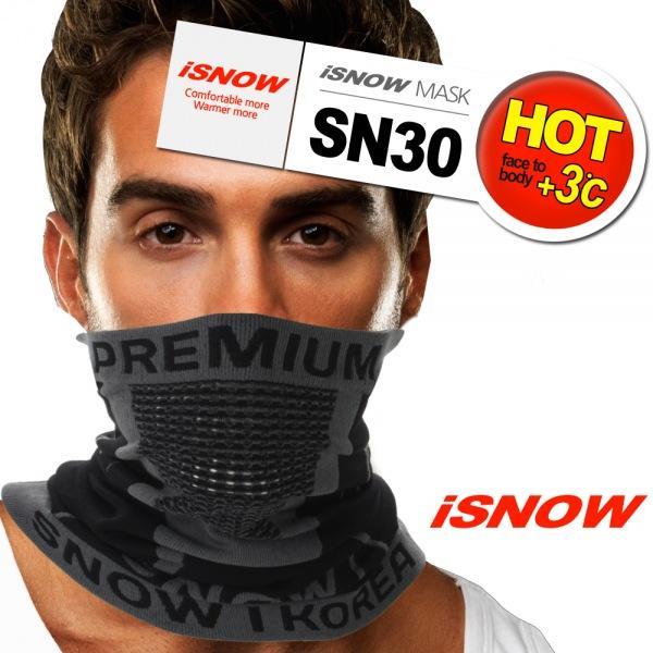 iSNOW 겨울용 멀티마스크 SN30 BK