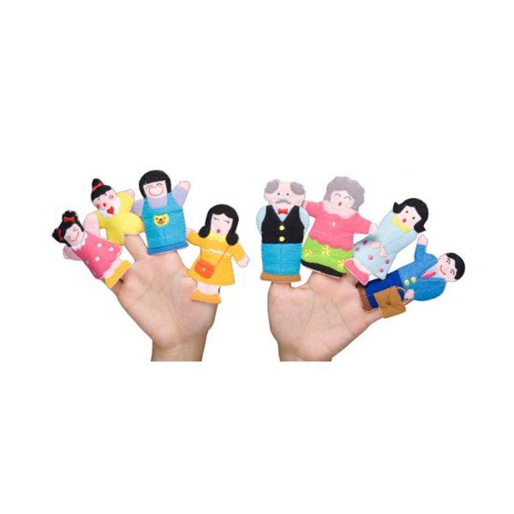 손가락 인형 가족이야기 완구 문구 장난감 어린이 캐릭터 학습 교구 교보재 인형 선물
