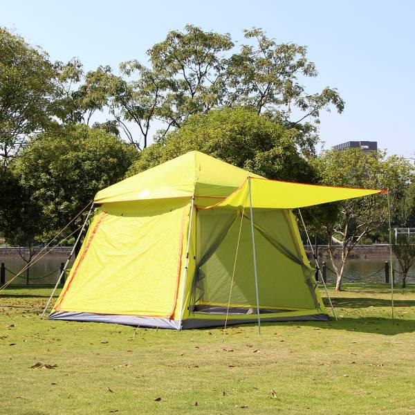 JHC컴퍼니 6인용 그늘막 원터치 오토 텐트 (옐로우) 텐트 오토텐트 그늘막텐트 캠핑용품 캠핑텐트