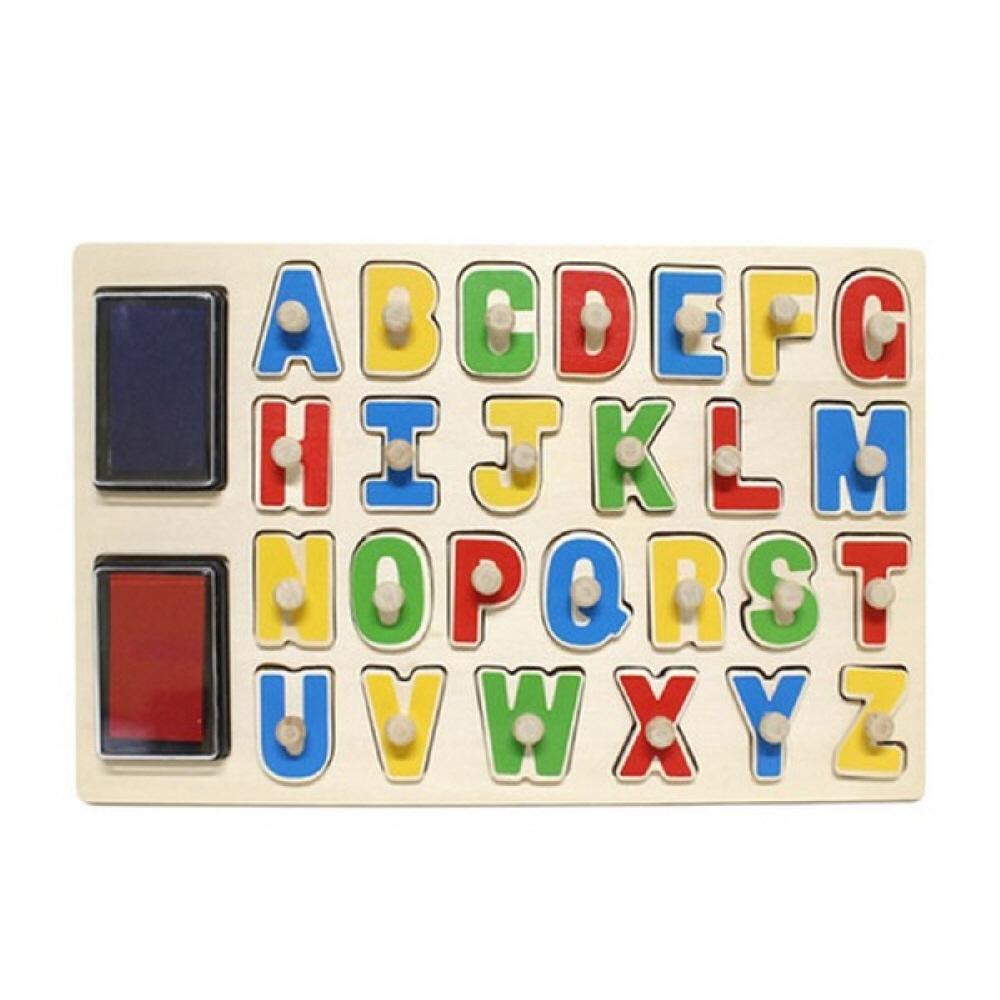 선물 유아 학습 아동 놀이 알파벳 도장 꼭지 퍼즐 퍼즐 블록 블럭 장난감 유아블럭