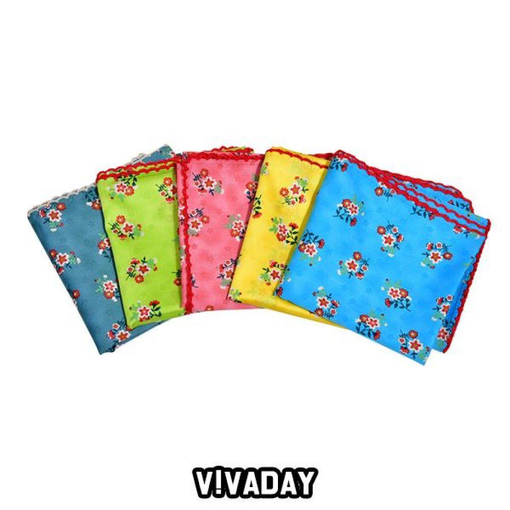 VIVADAY-SC73 꽃나염 손수건 스카프 여성스카프 쁘띠스카프 마스크 쿨토시 토시 패션잡화 롱스카프