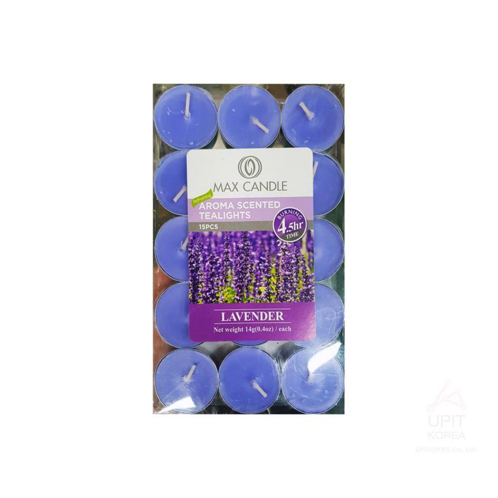 아로마 향 티라이트캔들 15PCS(4.5시간) 라벤더 생활용품 가정잡화 집안용품 생활잡화 기타잡화