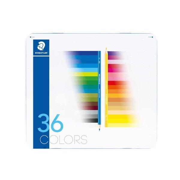 스테들러 노리스 색연필 145M36-2 36색 틴케이스 유성색연필