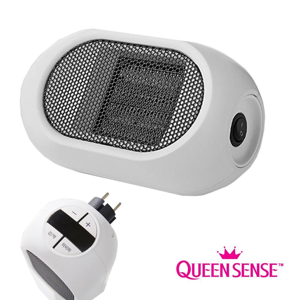 퀸센스490 플러그 휴대용 미니 전기히터 온풍기 히터 난로 전기히터 미니히터
