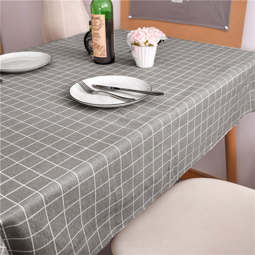 체크 사각 식탁보 140cm 그레이 식탁러너 테미블커버 테이블러너 테이블커버 식탁러너 식탁테이블매트 테미블커버