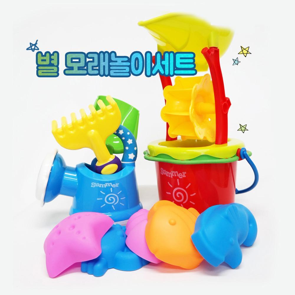 선물 유아 장난감 완구 별 모래놀이세트 13PCS 조카 유아원 장난감 2살장난감 3살장난감 4살장난감