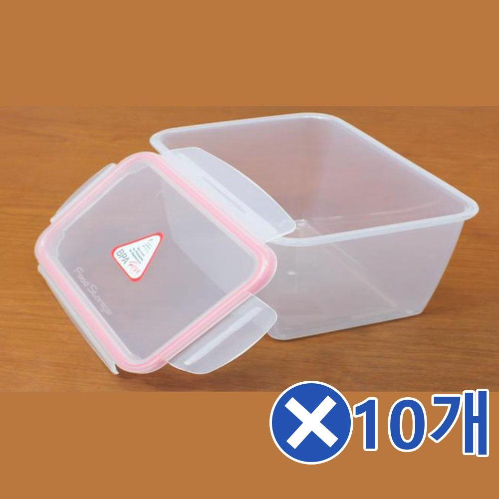 플라스틱 직사각 밀폐용기-420mlx10개 반찬통 냉동밥 냉동밥 냉동밥보관용기 냉동밥용기 냉동밥팩 냉동실보관용기 냉동실수납함 냉동실정리 냉동실정리함 냉동실트레이 냉장고반찬통