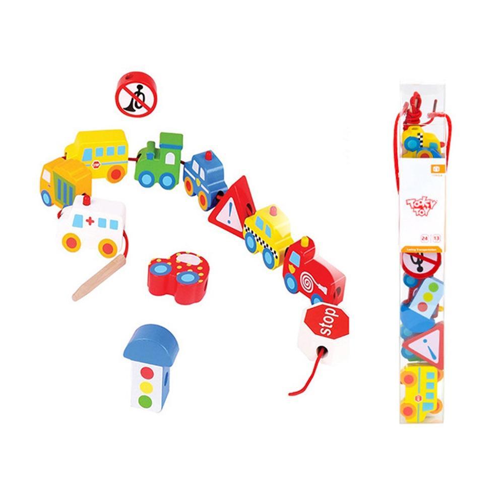 장난감 유아 학습 아동 놀이 비즈 교통 실꿰기 아이 퍼즐 블록 블럭 장난감 유아블럭
