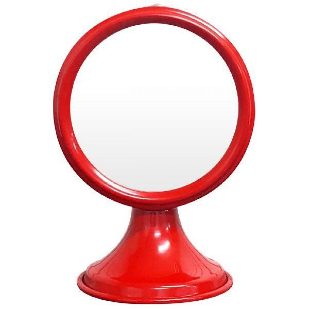 IG7357 탁상 거울 레드 제조한국 탁상거울 인테리어거울 메탈거울 소품거울 장식거울