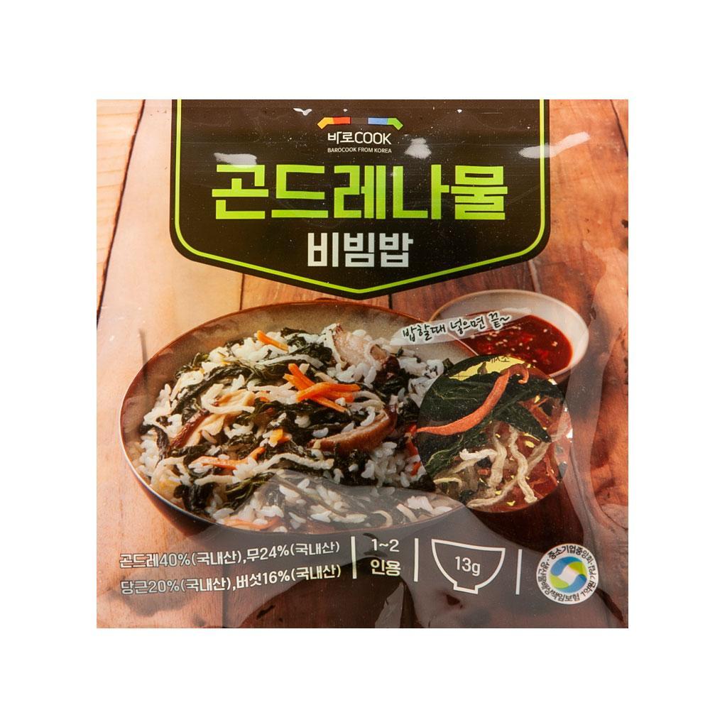 곤드레나물 비빔밥 13g(1-2인용) 나물 건강 식품 밥 야채