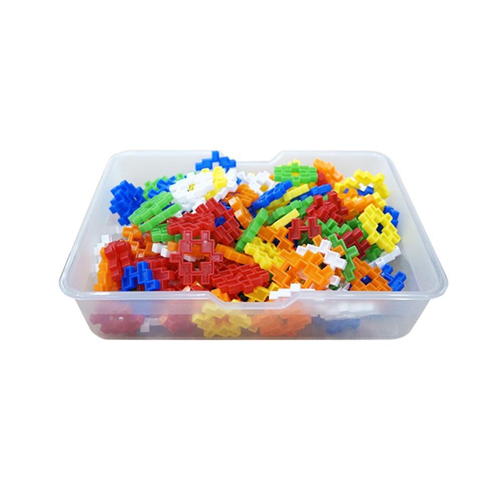 선물 유아 만들기 장난감 블록 미니 사각 블럭 바구니 퍼즐 블록 블럭 장난감 유아블럭