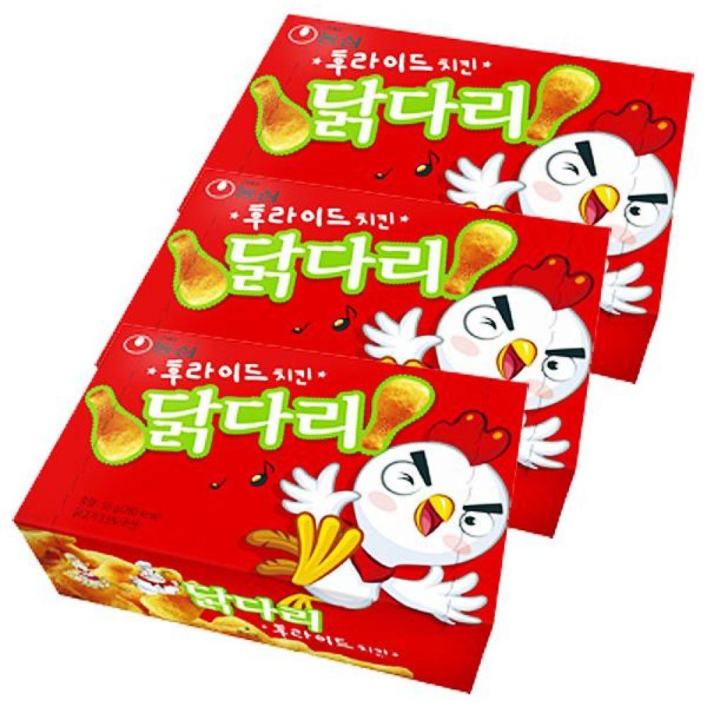 농심) 닭다리 후라이드맛 66g x 10개 과자 스낵 간식 대량도매 도매