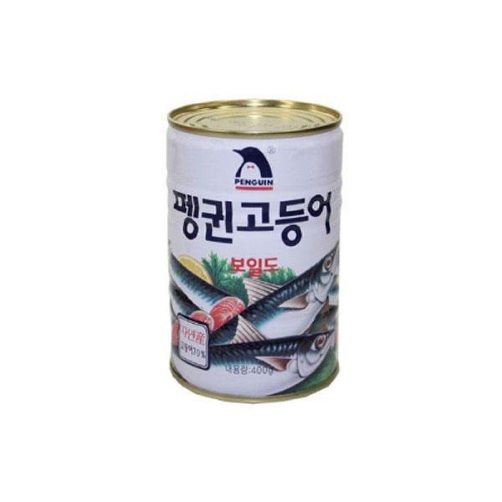 펭귄)고등어캔 400g x 12개 통조림 반찬 식재료 도매 박스단위