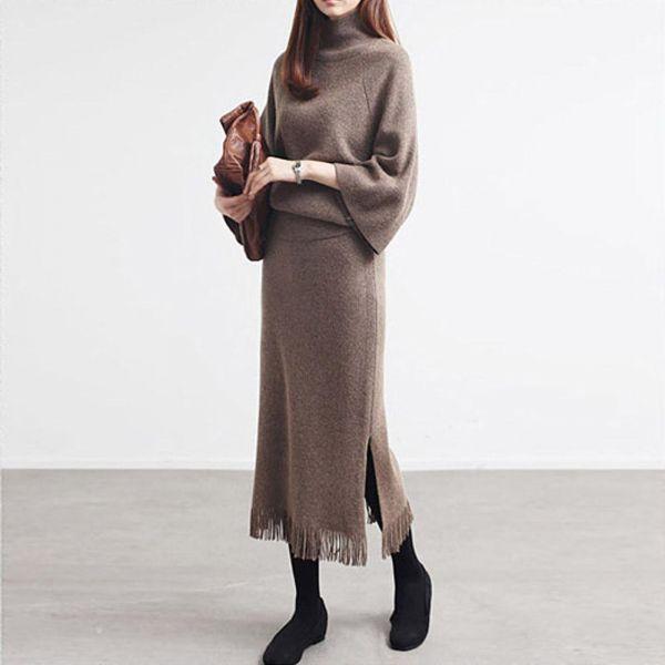 미시옷 0570RL 트랜디니트롱스커트세트 DK 빅사이즈 여성의류 빅사이즈 여성의류 미시옷 임부복 시크니트롱스커트세트