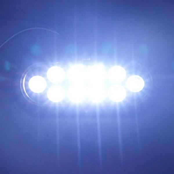 12V용 2WAY 타원형 LED테일라이트-화이트색상 차폭등 사이드램프 노면등 윙바디램프 차량폭인식 차폭인식 화물차 탑차 봉고 포터 하이빔 밝기조절모듈