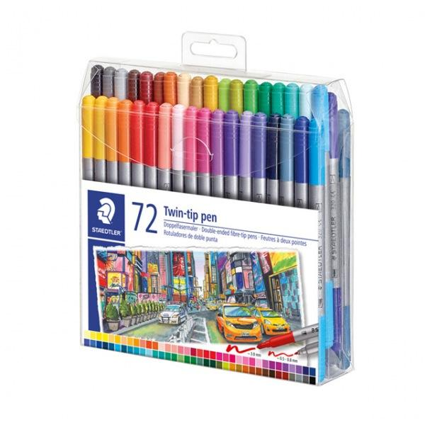 스테들러 그래픽 더블 팁마카 72색세트 3200TB72 스케치 드로잉