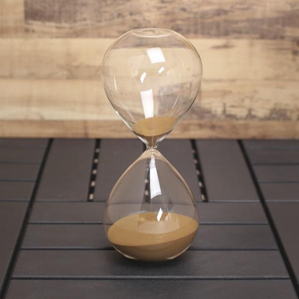 JHC컴퍼니 글라스타임 유리 모래시계(60분) (브라운) 벽시계 탁상시계 모래시계 클래식시계 엔틱벽시계