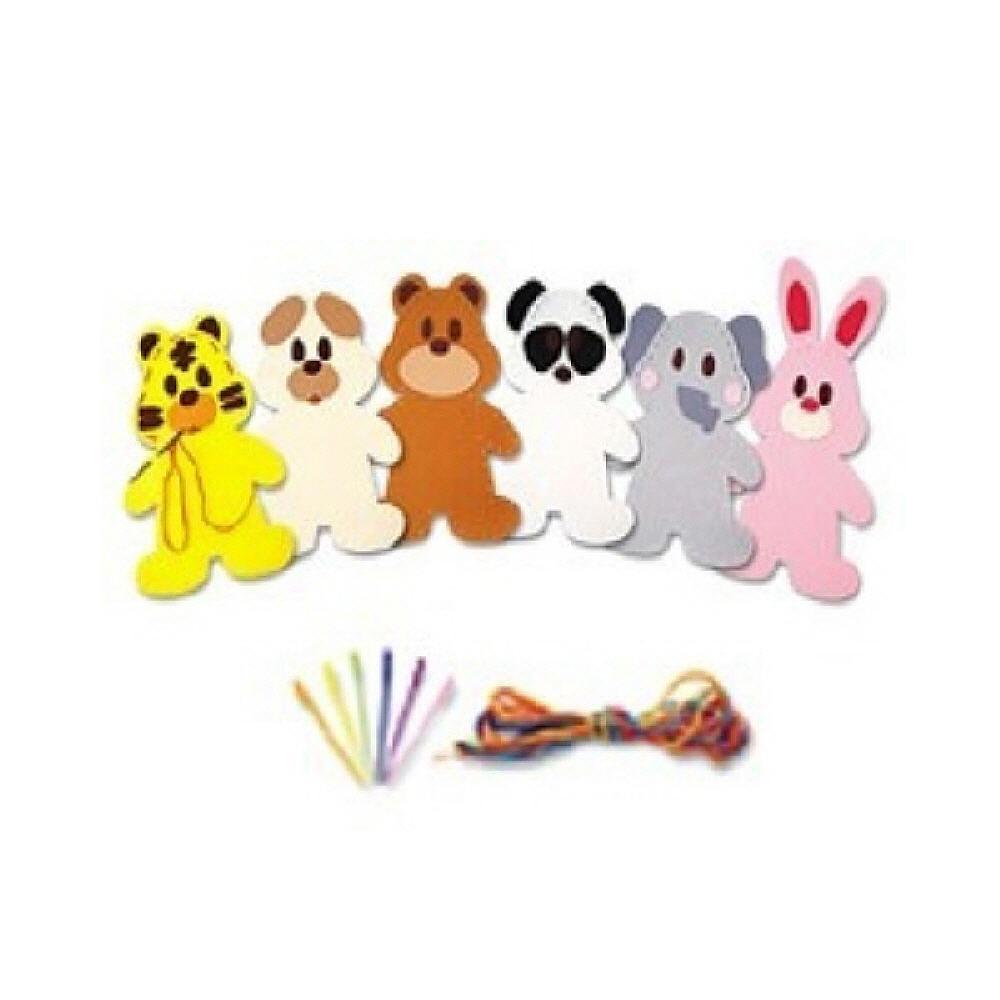 장난감 아동 유아 교구 어린이 바느질 놀이 동물1번 유아원 장난감 2살장난감 3살장난감 4살장난감