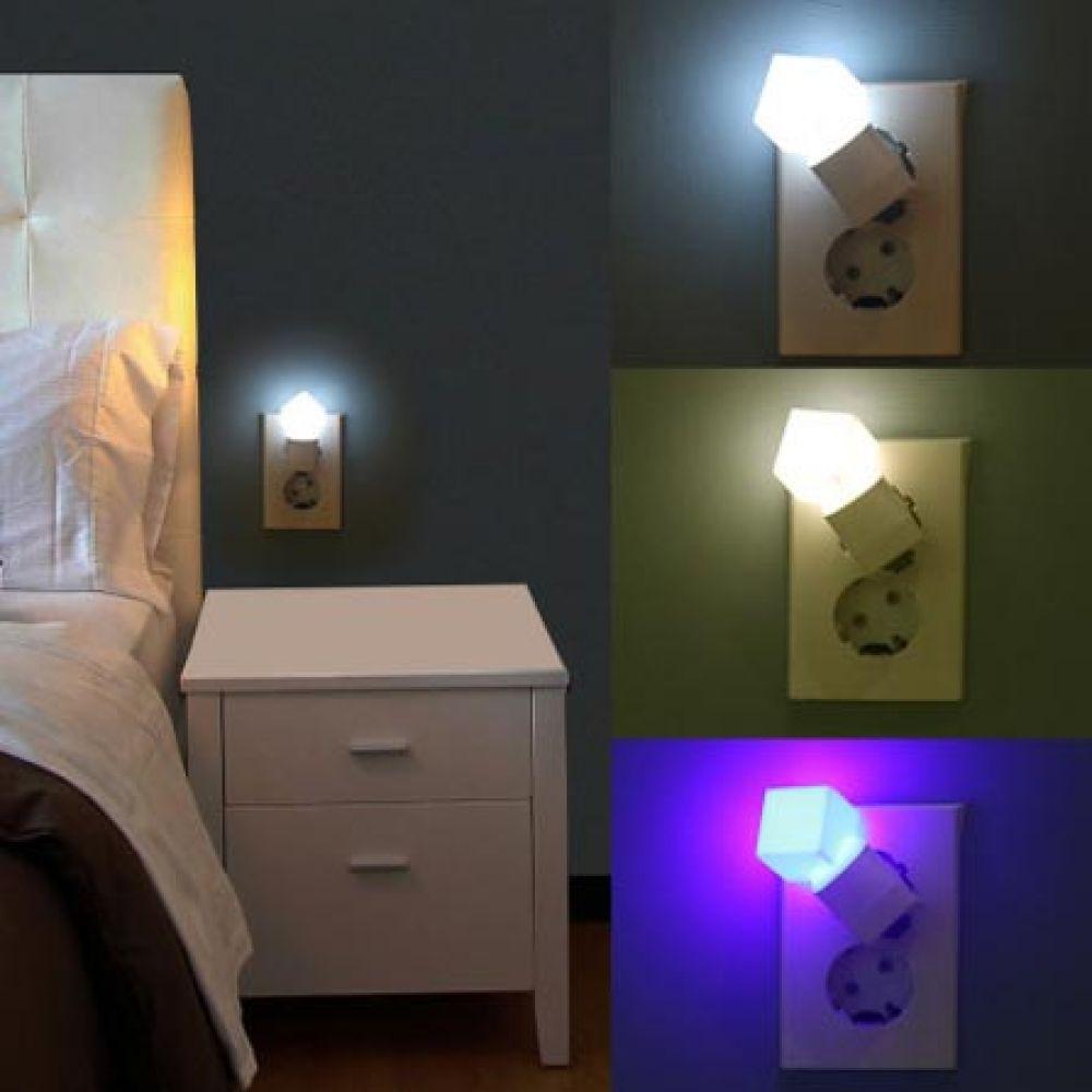 LED 취침등 큐브 화이트 수면등 침실조명 수면 침실조명 수면 수면등 취침등