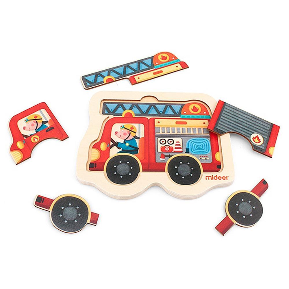 교구 2살 2세 유아 미니 퍼즐 소방차 5P 어린이 학습 퍼즐 어린이교구 창의교구 아동퍼즐 창작놀이