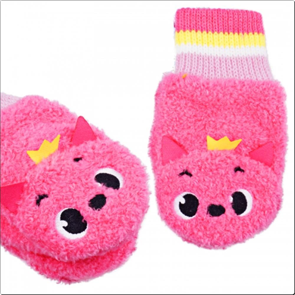 핑크퐁 입체 폴라장갑 (페이스 벙어리)(042537) 캐릭터 캐릭터상품 생활잡화 잡화 유아용품