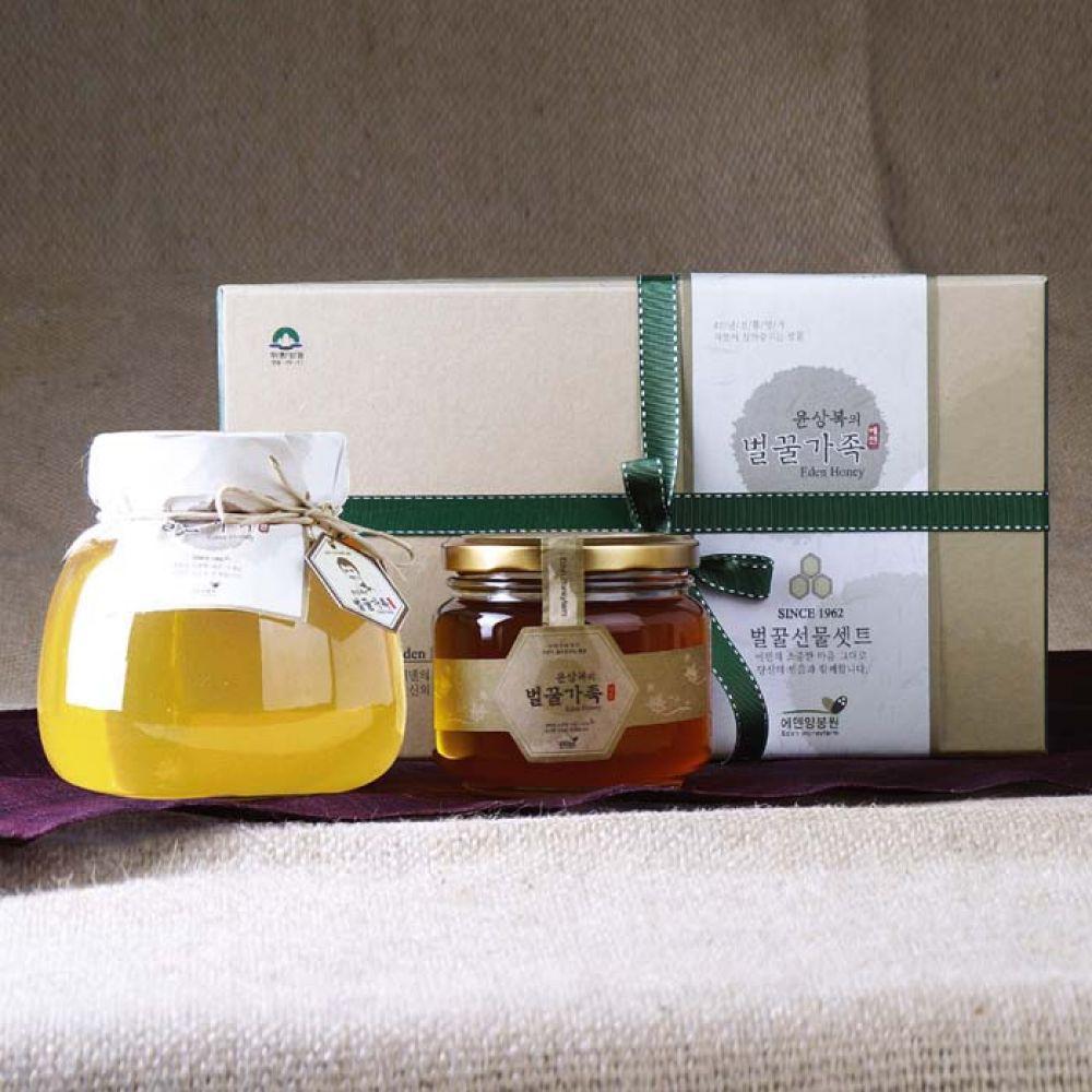 에덴양봉원_윤상복의 벌꿀가족 2호 1.5kg 꿀 벌꿀 벌꿀세트 꿀세트 천연벌꿀 명절선물 선물세트 명절선물세트 설선물