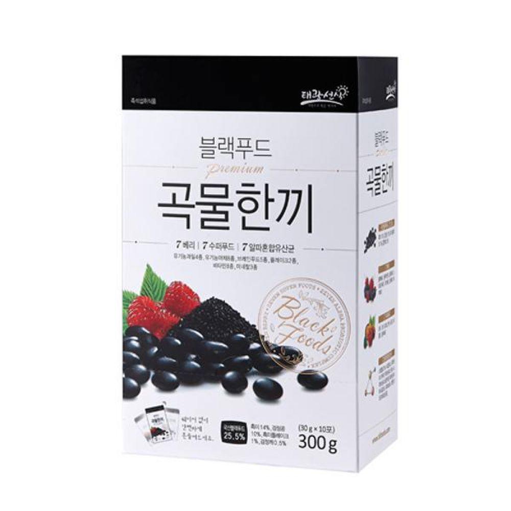 블랙푸드 곡물한끼 30g x 10입 블랙푸드 4종과 7가지 베리 7가지 슈퍼 푸드가 혼합된 맛있고 바른 먹거리 건강 곡물 간편식 잡곡 한끼