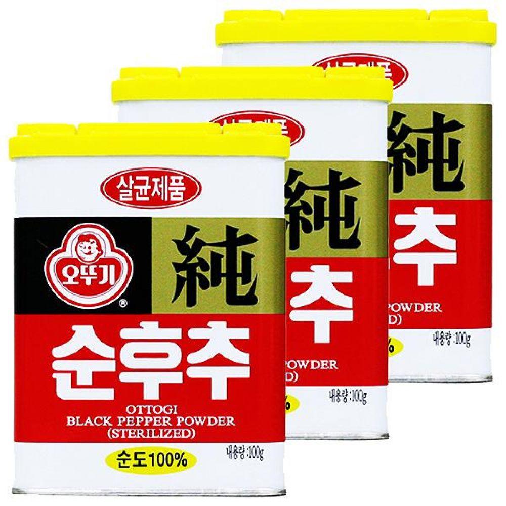 오뚜기)순후추 캔 100g x 10개 열대 향신료 고기 소스 조미 매운 고기 시즈닝