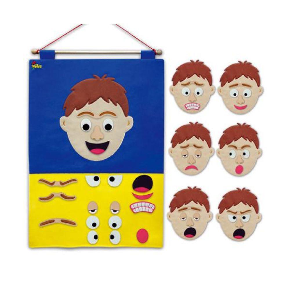 매직교구 탈부착 미스터 감정표현 차트 완구 문구 장난감 어린이 캐릭터 학습 교구 교보재 인형 선물